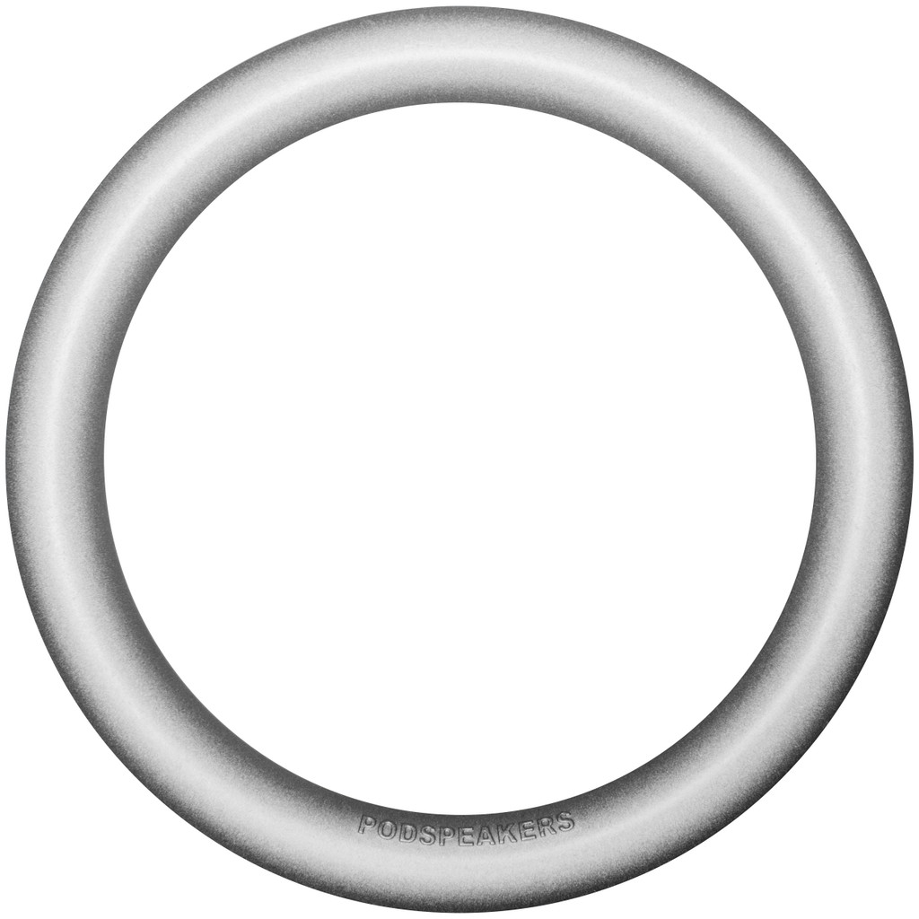 Podspeakers MiniPod Ring Aluminium Zilver in Dalem