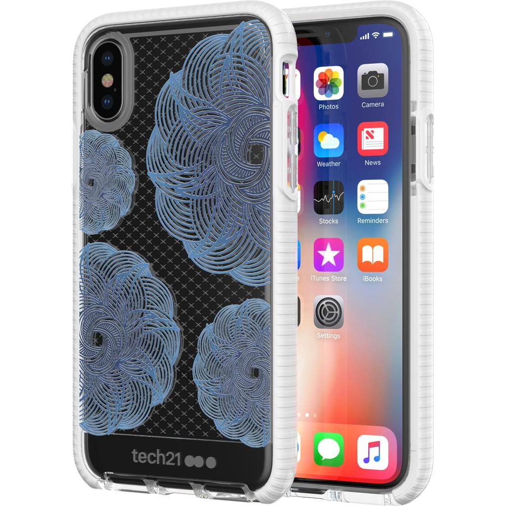Tech21 Evo Check Evoke Apple iPhone X Back Cover Blauw