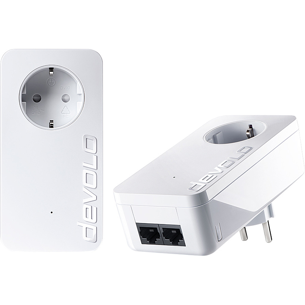 Devolo dLAN 1000 duo+ Geen wifi 1000 Mbps 2 adapters in Stuifzand
