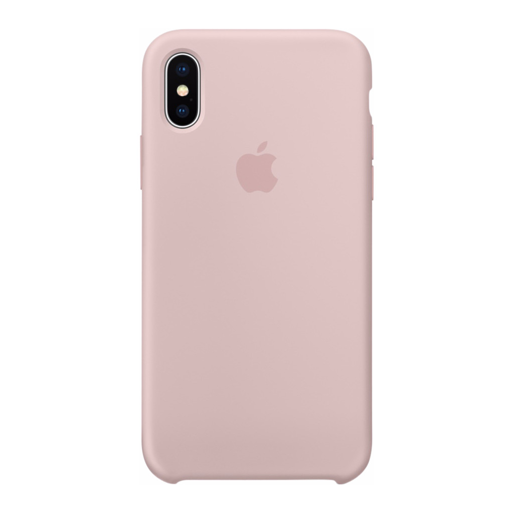 Apple iPhone X Silicone Back Cover Roze