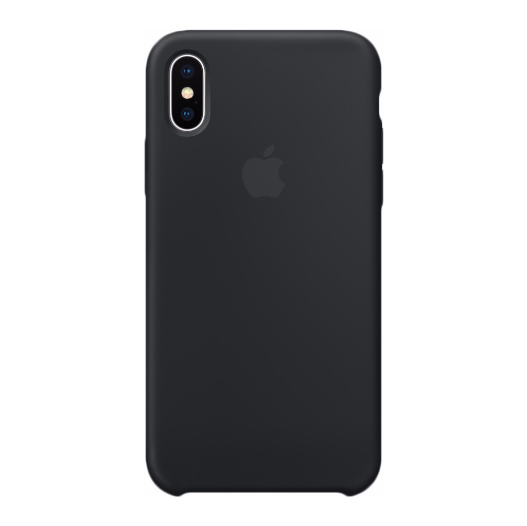 Apple iPhone X Silicone Back Cover Zwart in Roux