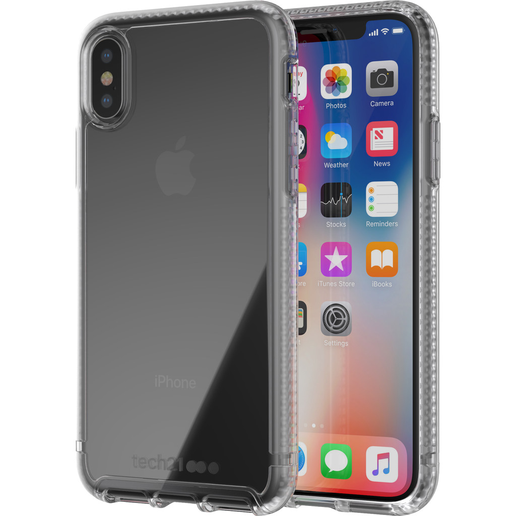 Tech21 Pure Clear Apple iPhone X Back Cover Transparant in Einde