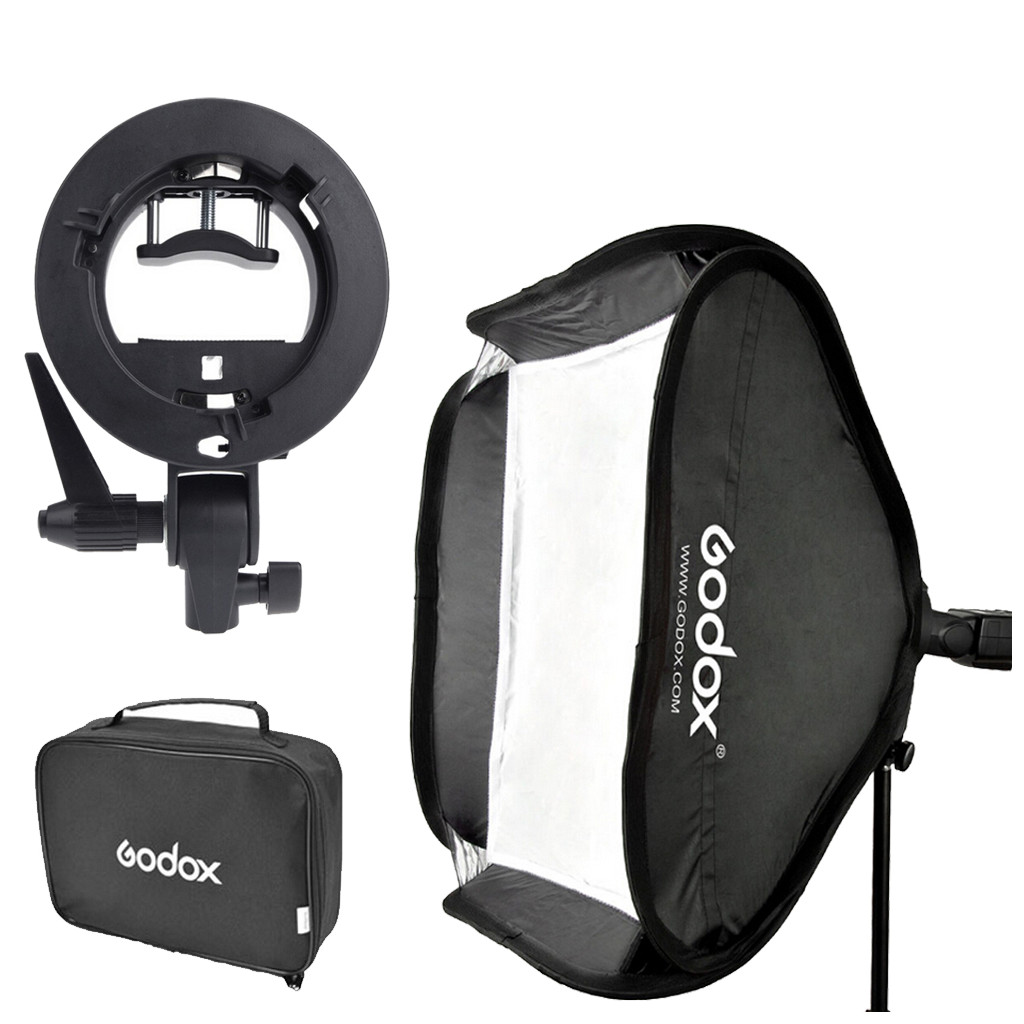 Godox S-type Bracket Bowens incl. Softbox 40x40cm in Beselare