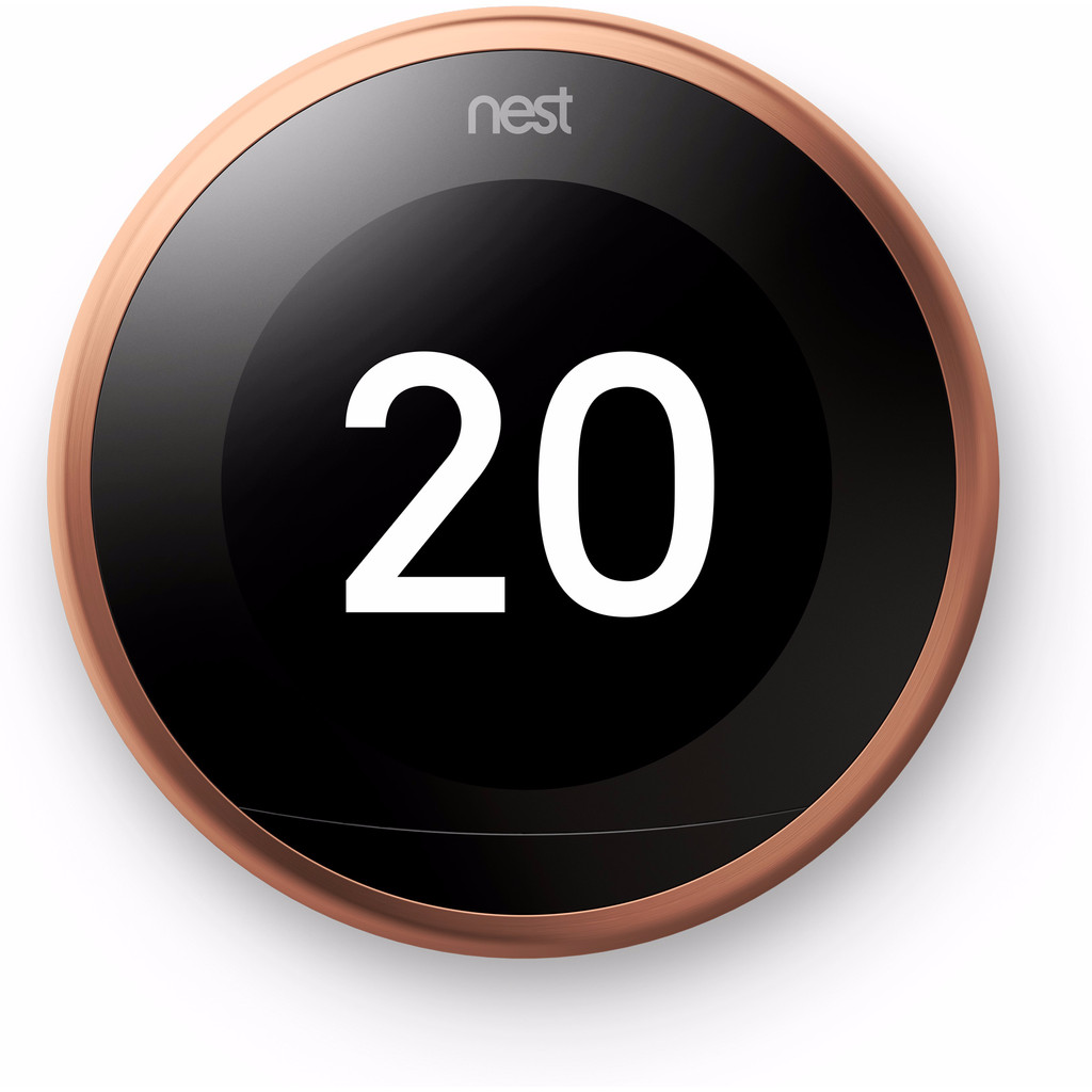 Nest Learning Thermostat V3 Premium Koper met installatie