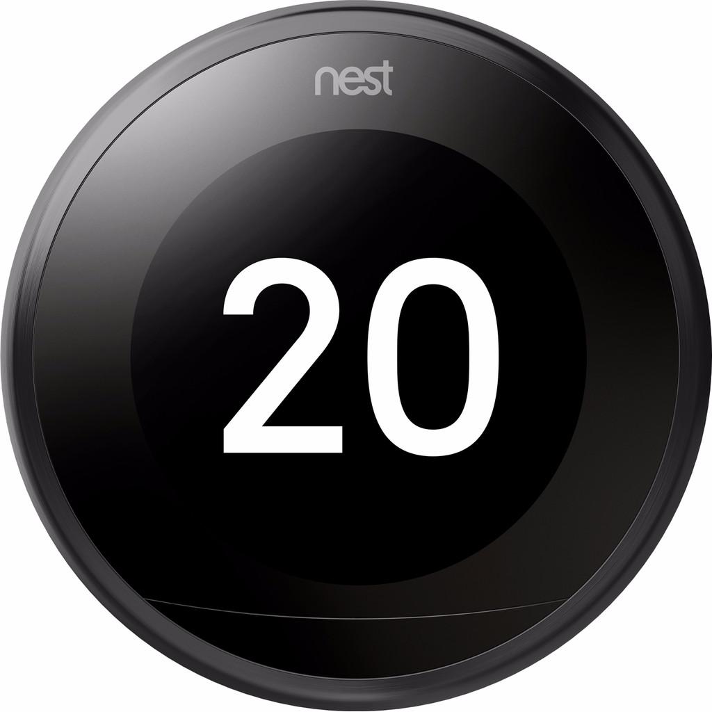 Nest Learning Thermostat V3 Premium Zwart met installatie
