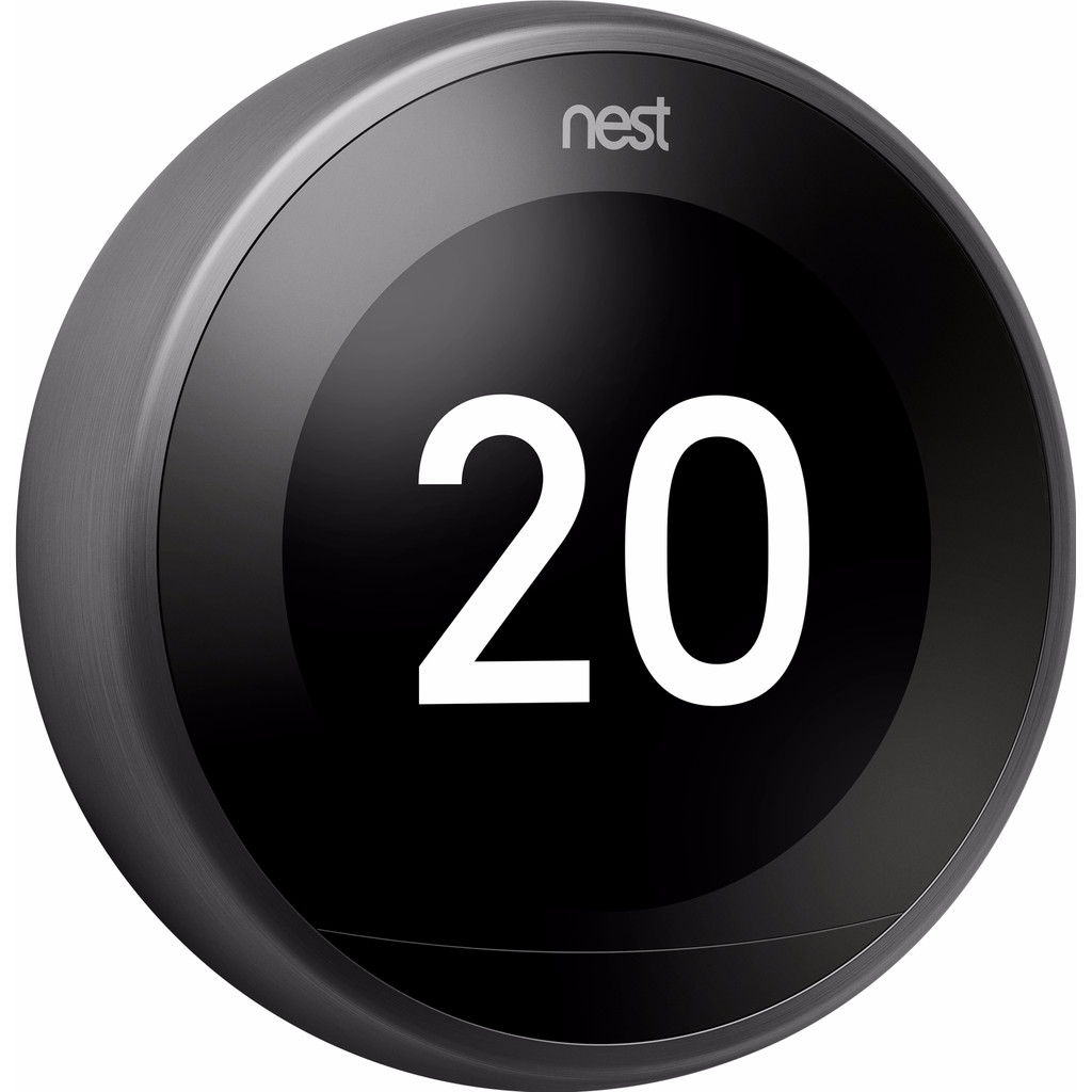 Nest Learning Thermostat V3 Premium Zwart in Raeren