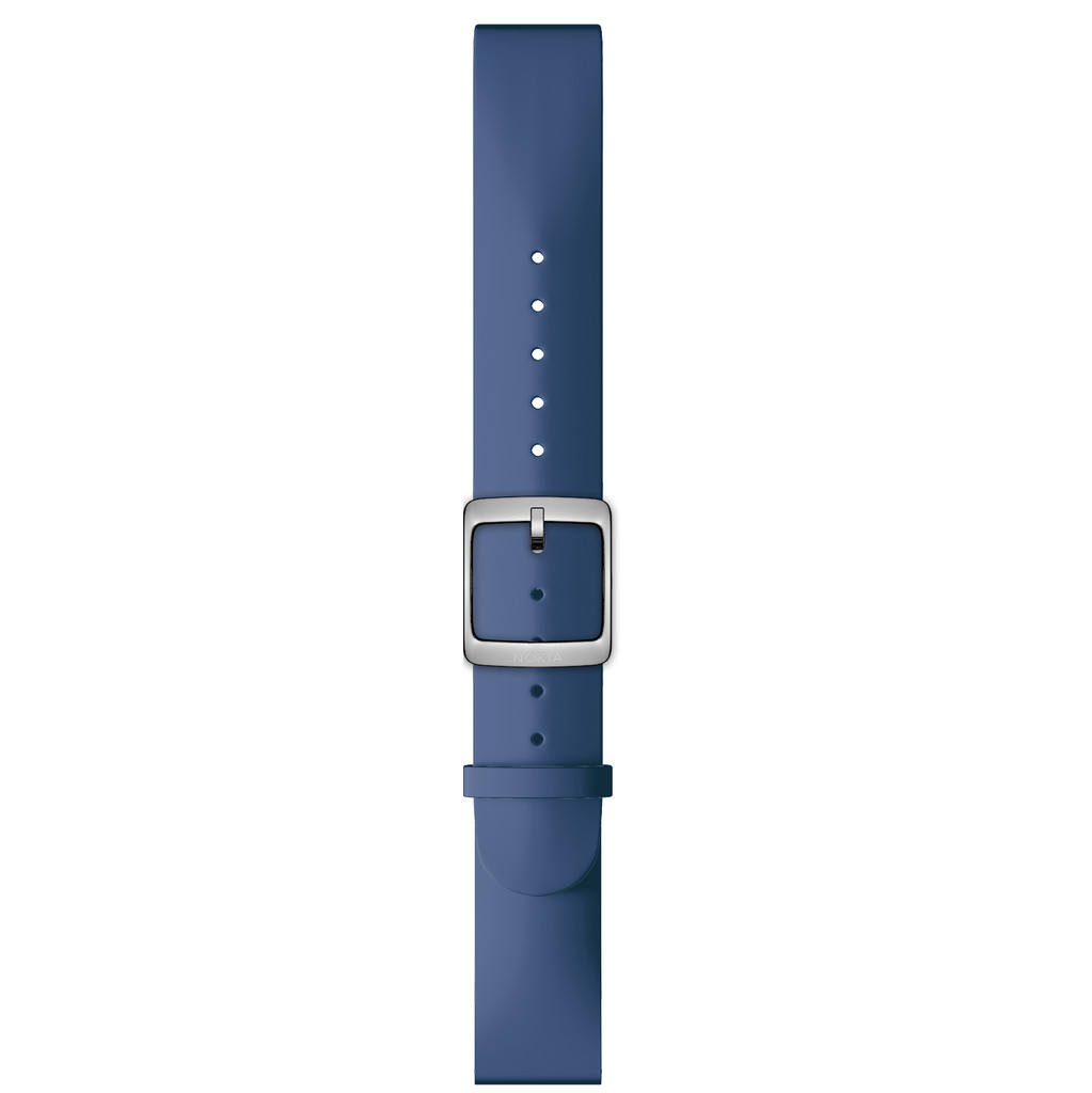 Nokia 18mm Siliconen Horlogeband Blauw kopen