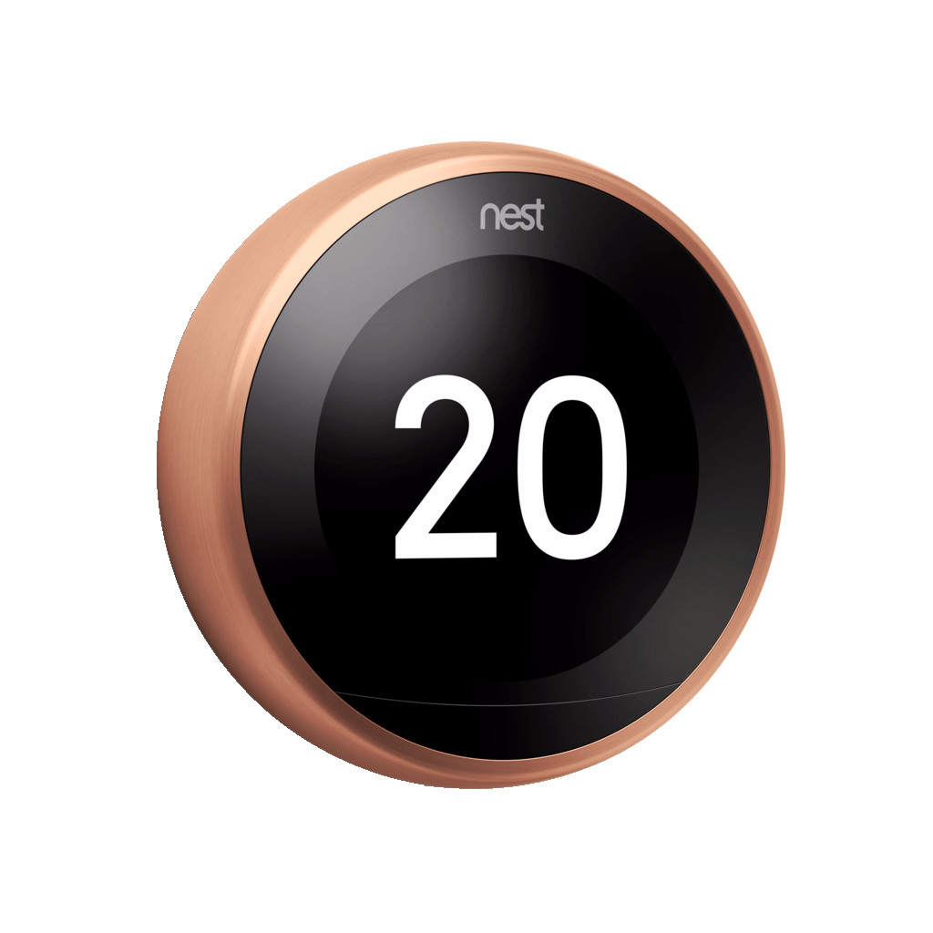 Nest Learning Thermostat V3 Premium Koper in Padhuis