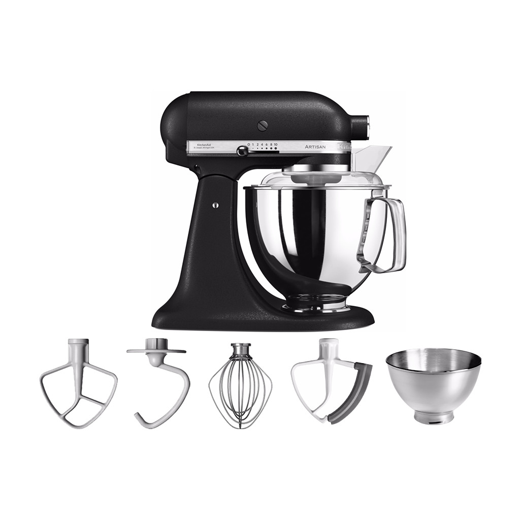 KitchenAid Artisan Mixer 5KSM175PS Vulkaanzwart in Greffelkamp
