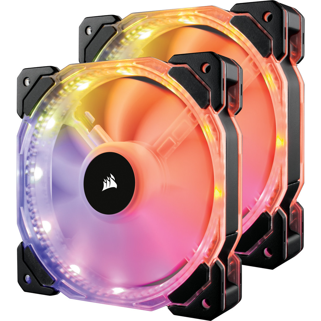 Corsair HD140 RGB LED Double Pack in Lens