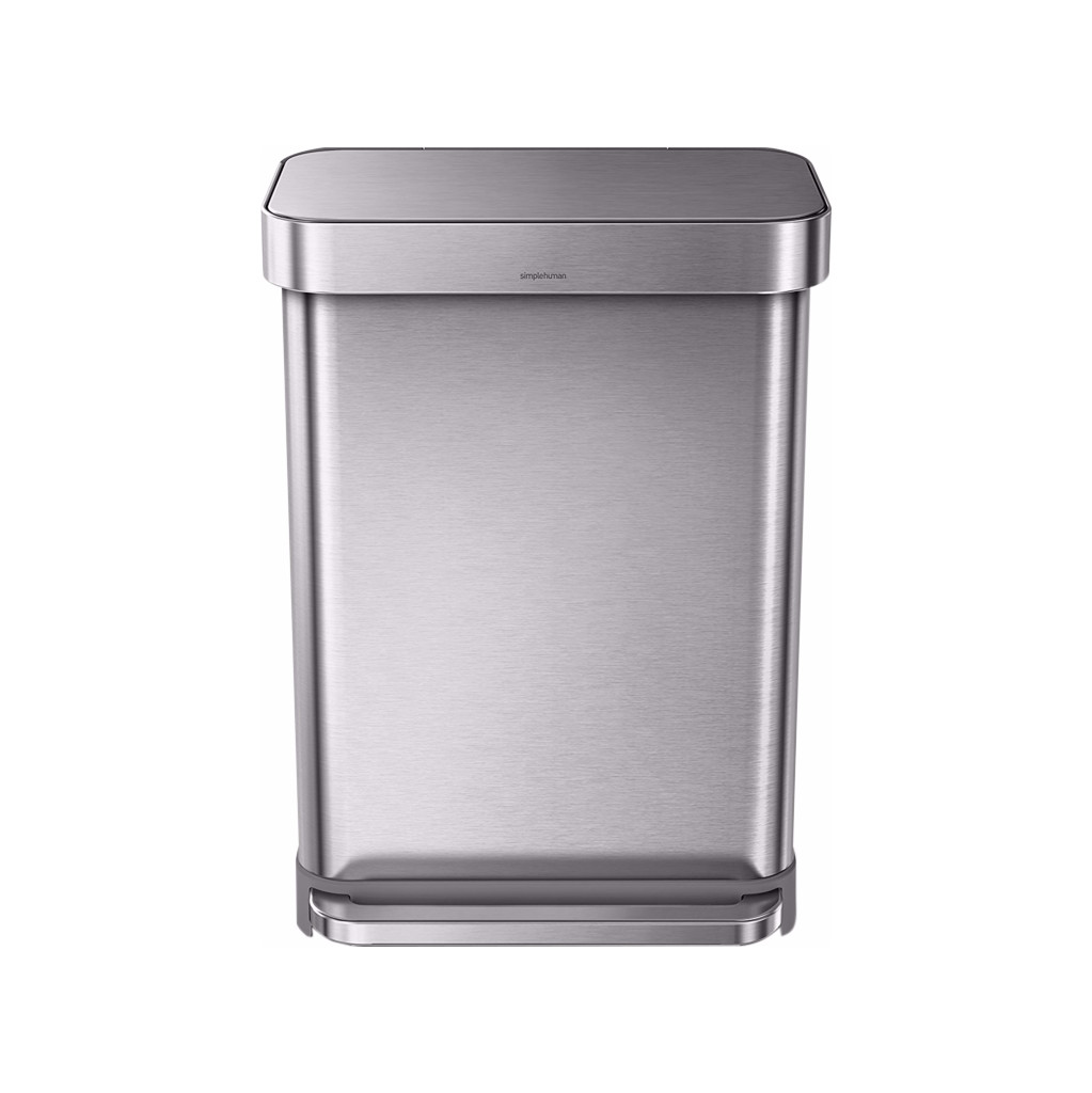 Simplehuman Rectangular Liner Pocket 55 Liter RVS
