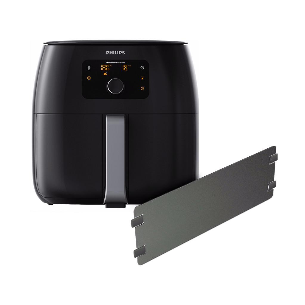 Philips Avance Airfryer XXL HD9652/90 Zwart + Panverdeler in Oeffelt