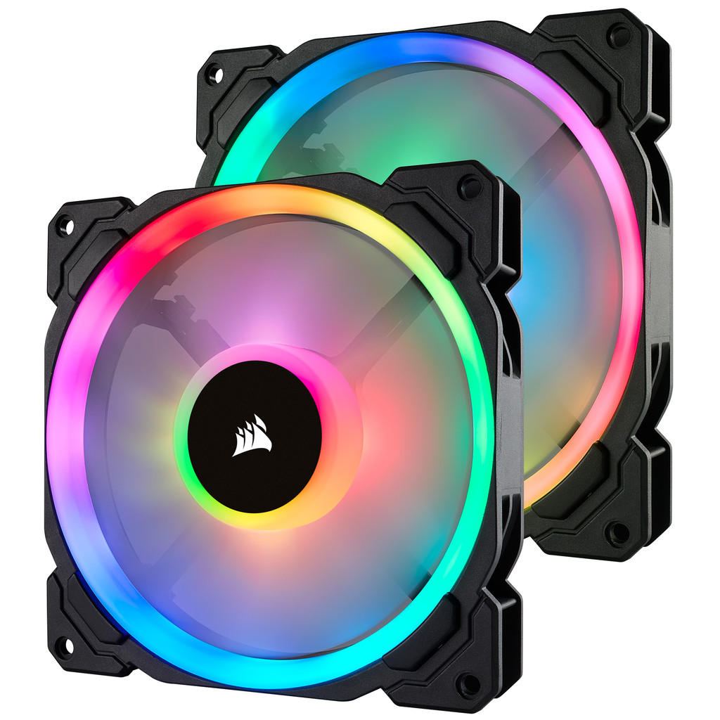 Corsair LL140 RGB Dual Light Loop Twin Pack in Javingue