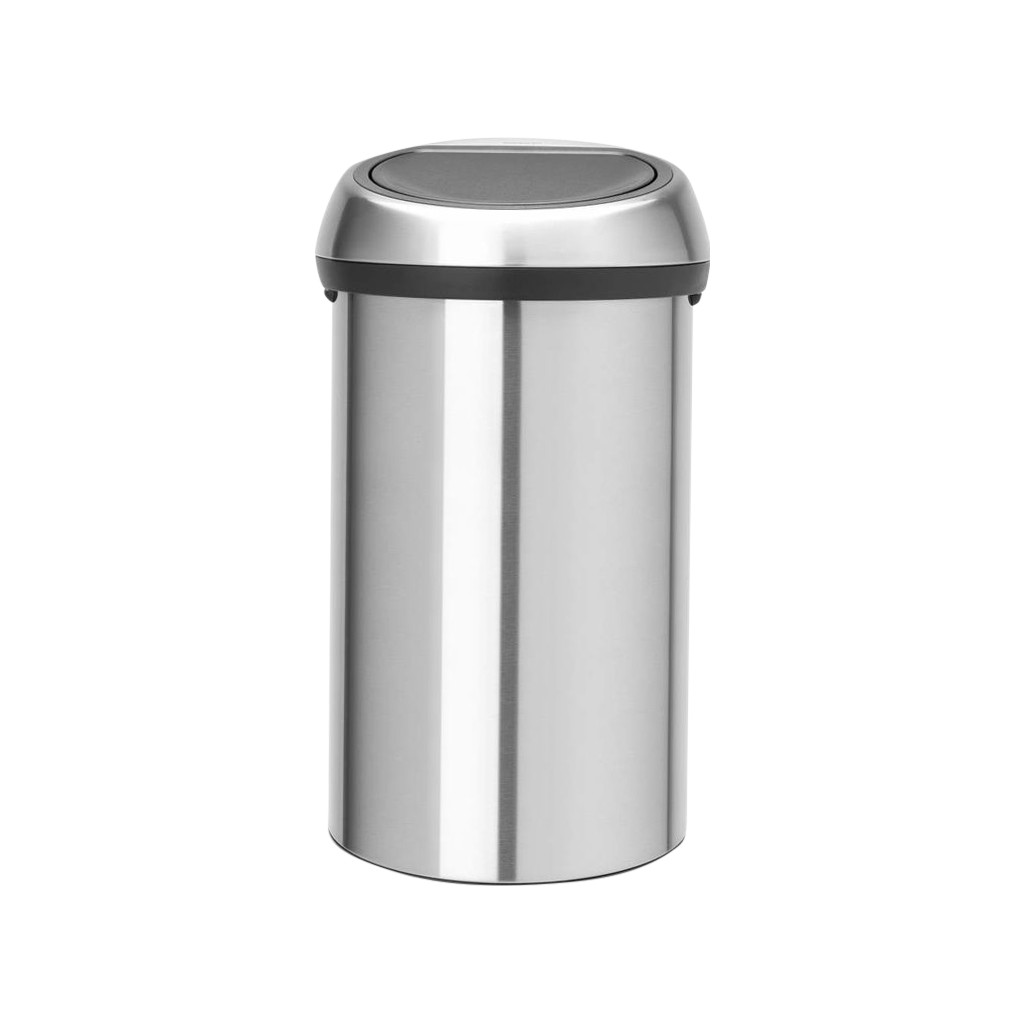 Brabantia Touch Bin 60 Liter Matt Steel Fingerprint Proof