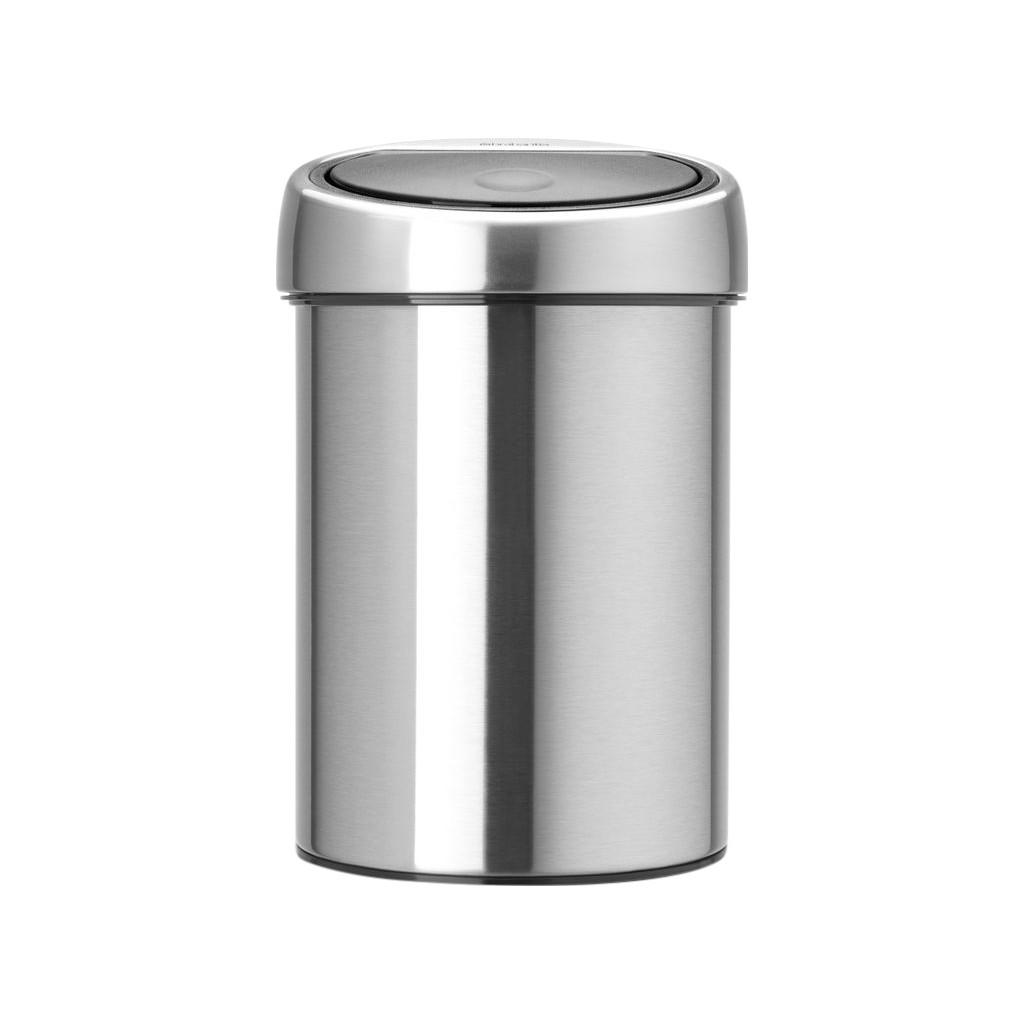 Brabantia Wasbox 50 Liter Matt Steel.Brabantia Brab Touch Bin Matt Steel Fp 3ltr