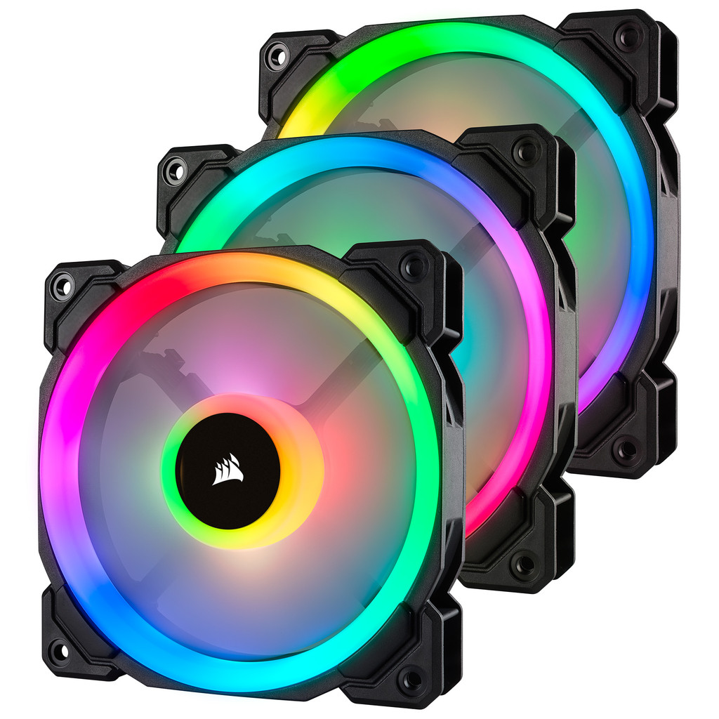 Corsair LL120 RGB Dual Light Loop Triple Pack in Carnières