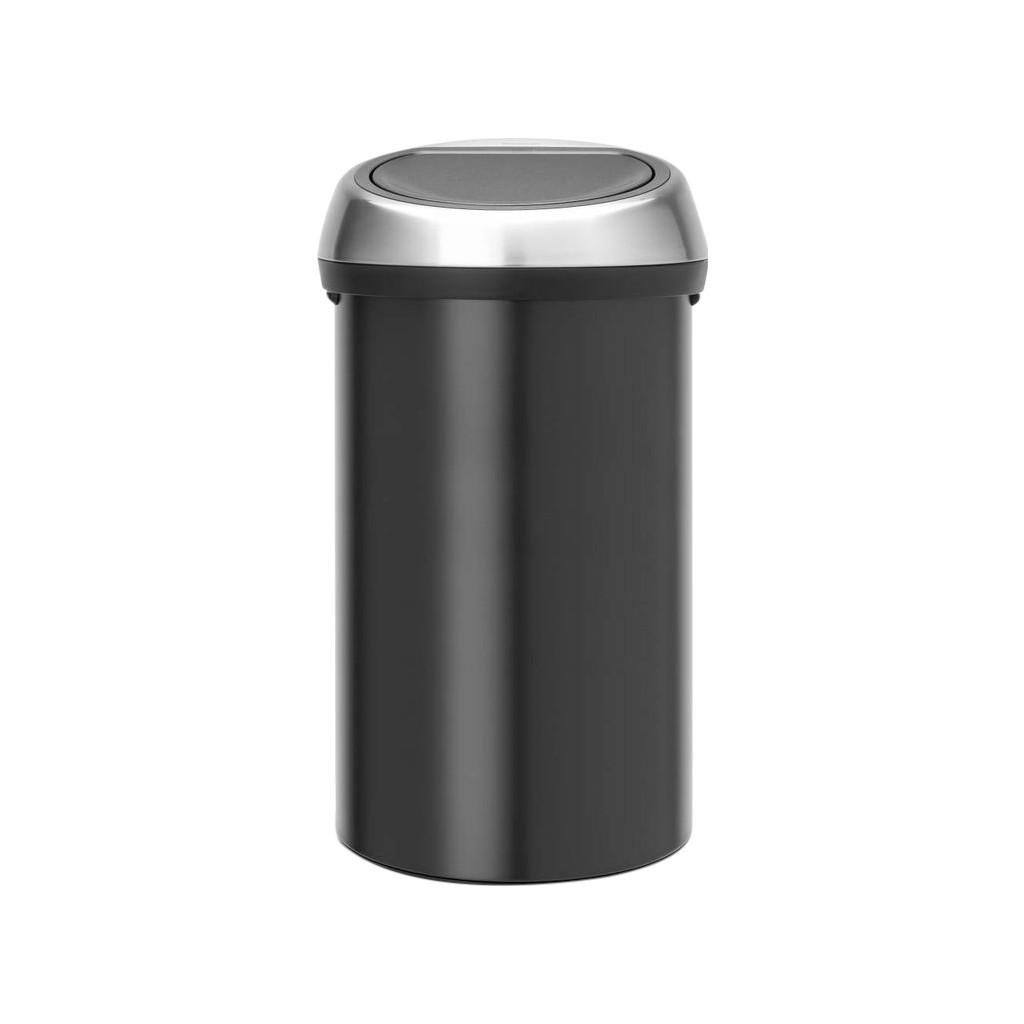 Brabantia Touch Bin 60 Liter Zwart Fingerprintproof Deksel