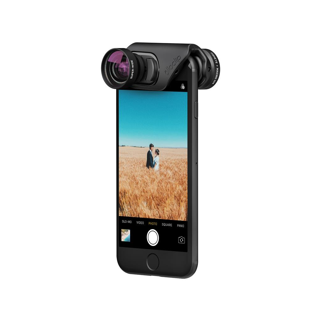 Olloclip Core Lens Set + 2 Cases voor iPhone 7/8 en 7/8 Plus in Noirefontaine
