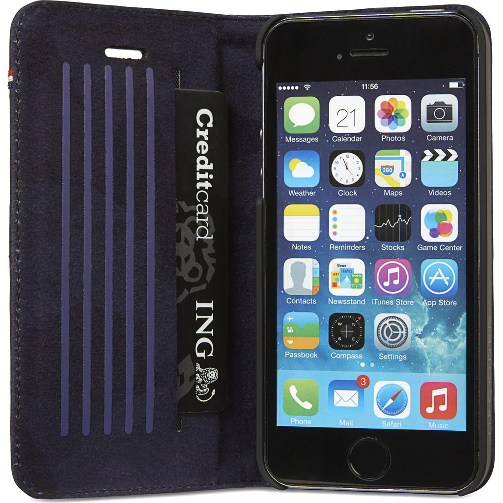 Decoded Surface Wallet Apple iPhone 5/5S/SE Black in Tillet