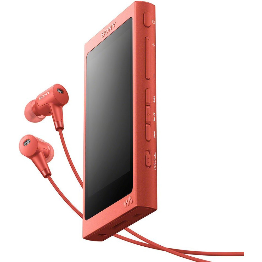 Sony NW-A45HN MP3-speler 16 GB Rood Bluetooth, Digitale ruisminimalisering, High-Resolution audio, N