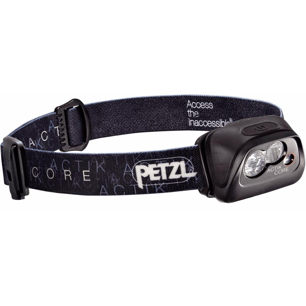 Petzl Actik 350 Zwart + Oplaadbare Batterij in Forges