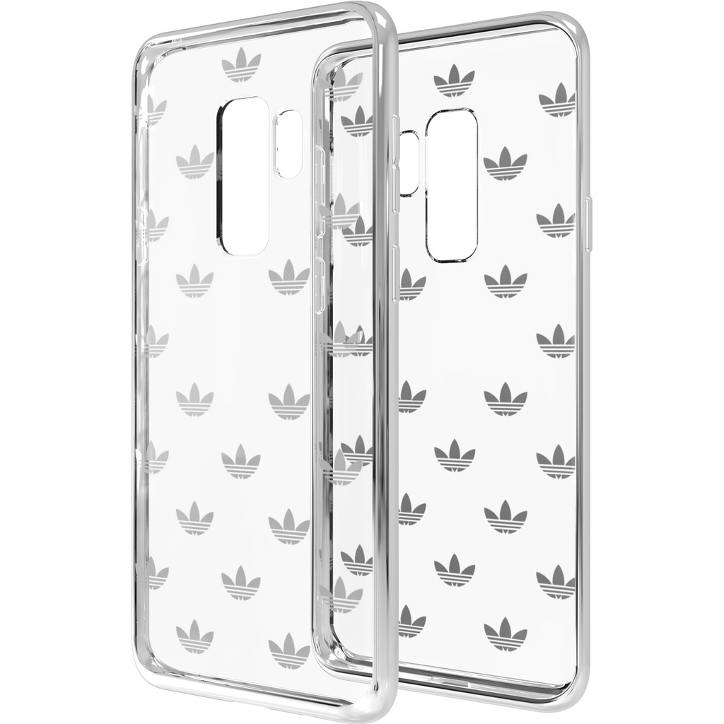 Adidas Originals Clear Samsung Galaxy S9 Plus Back Cover Zilver