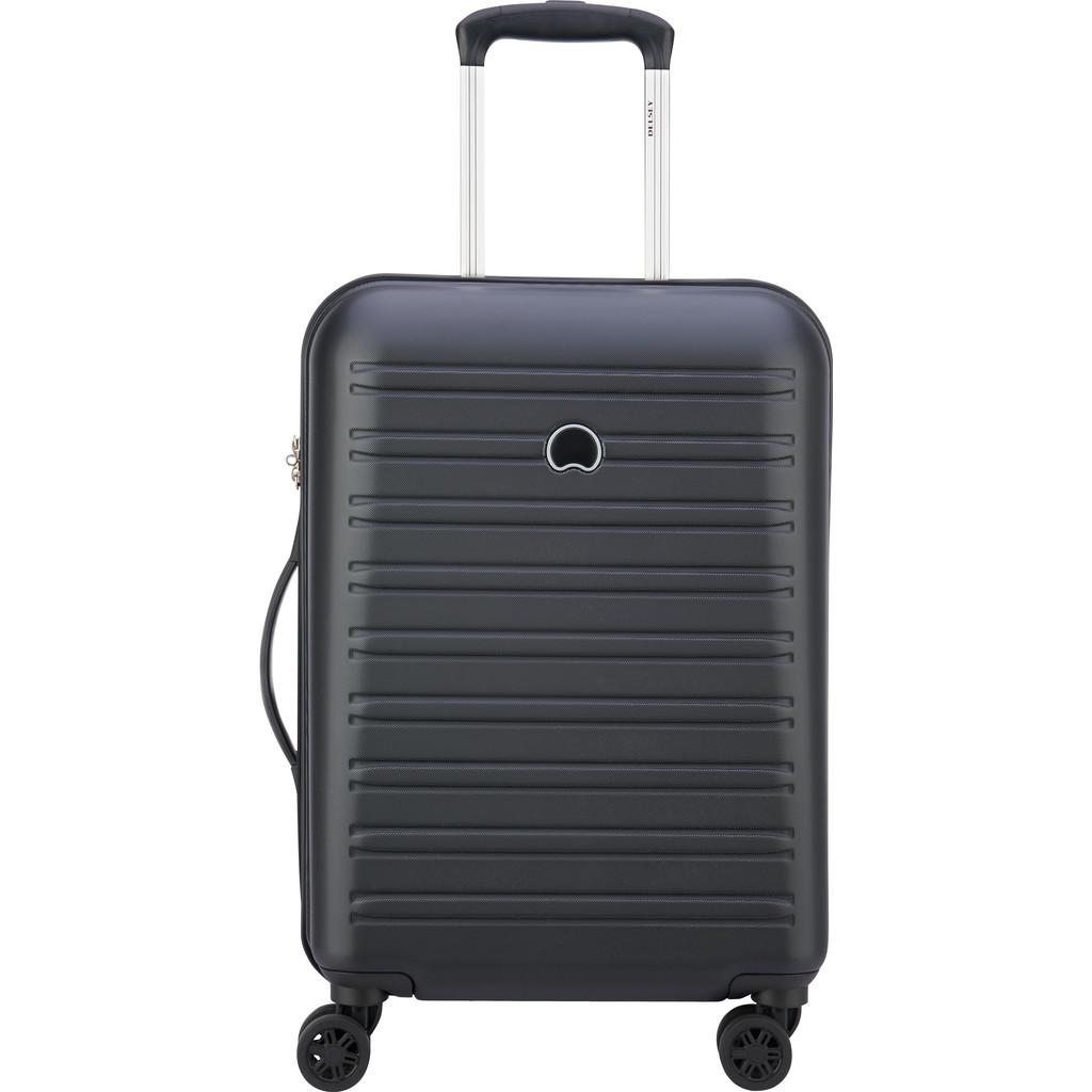 Delsey Segur Slim 4 Wiel Trolley 55 black Harde Koffer