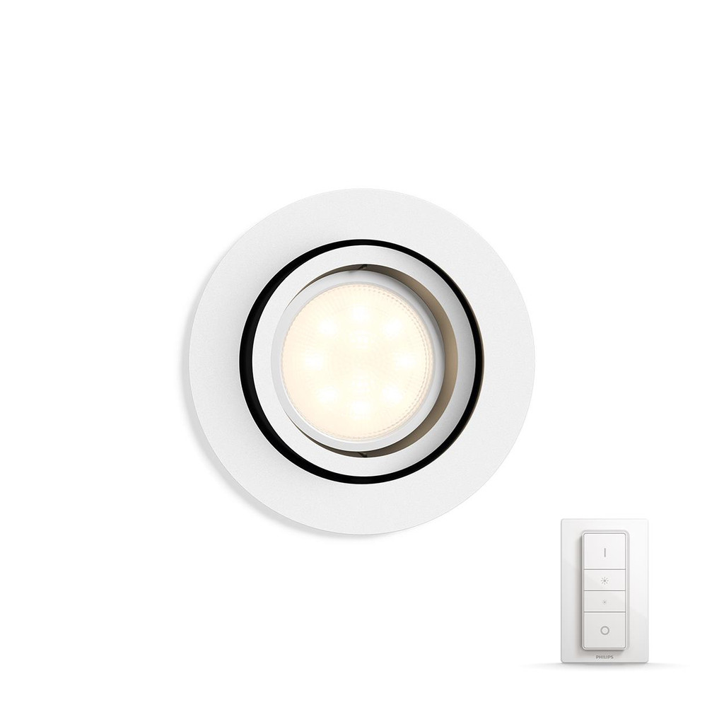 Philips Hue Milliskin Rond Wit Inclusief Dim Switch in Holten