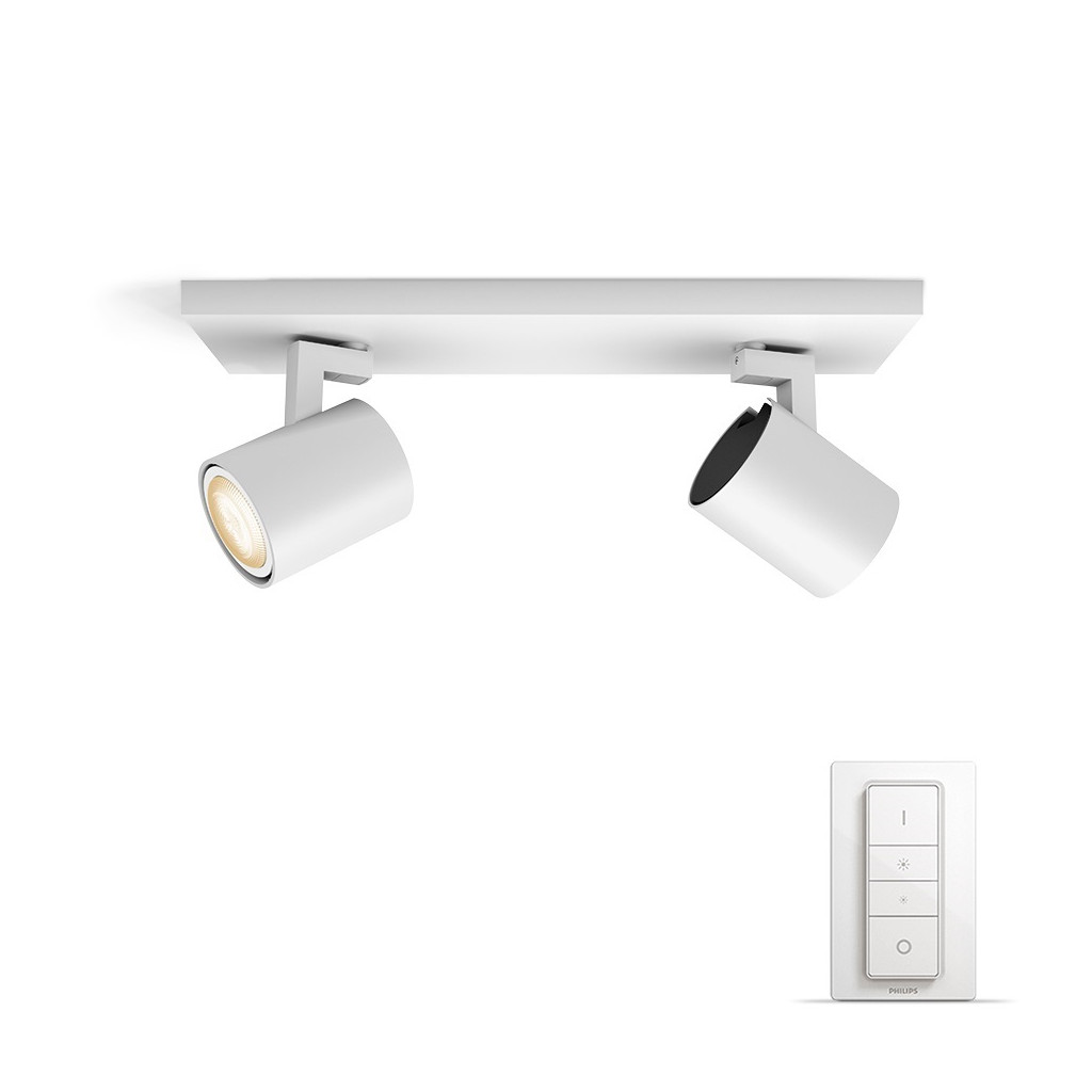 Philips Hue Runner opbouwspot White Ambiance 2-lichts Wit Bluetooth
