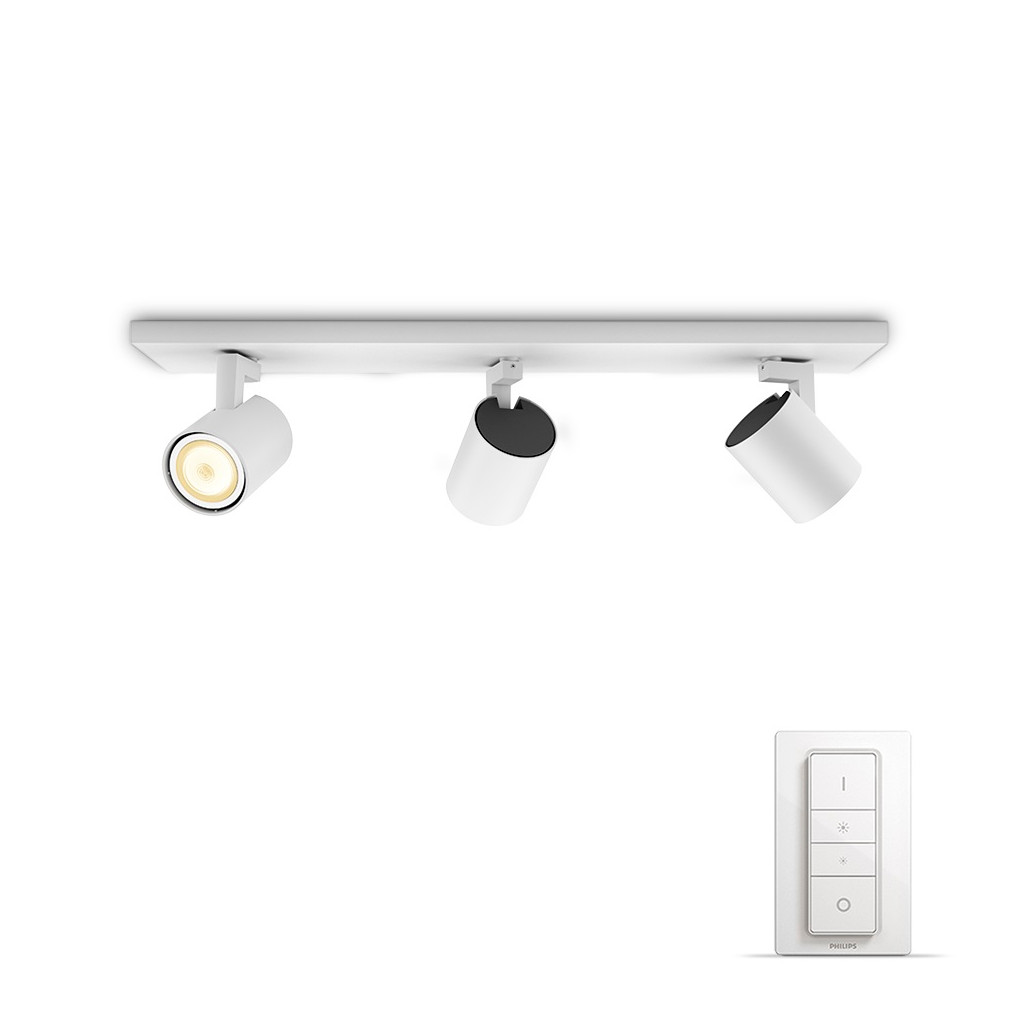 Philips Hue Runner opbouwspot White Ambiance 3-lichts Wit Bluetooth