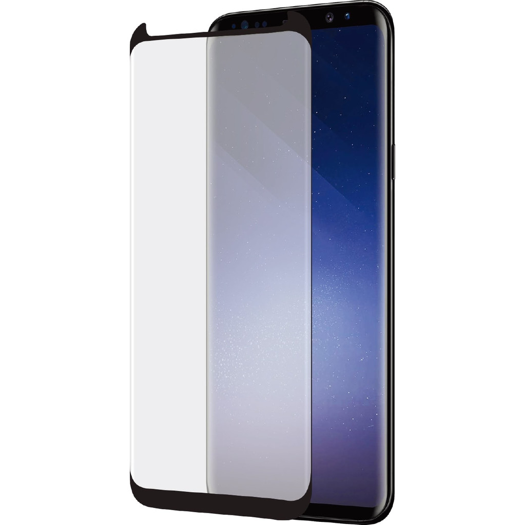 Azuri Case Friendly Curved Gehard Glas Samsung Galaxy S9 Screenprotector Glas Zwart in Hody