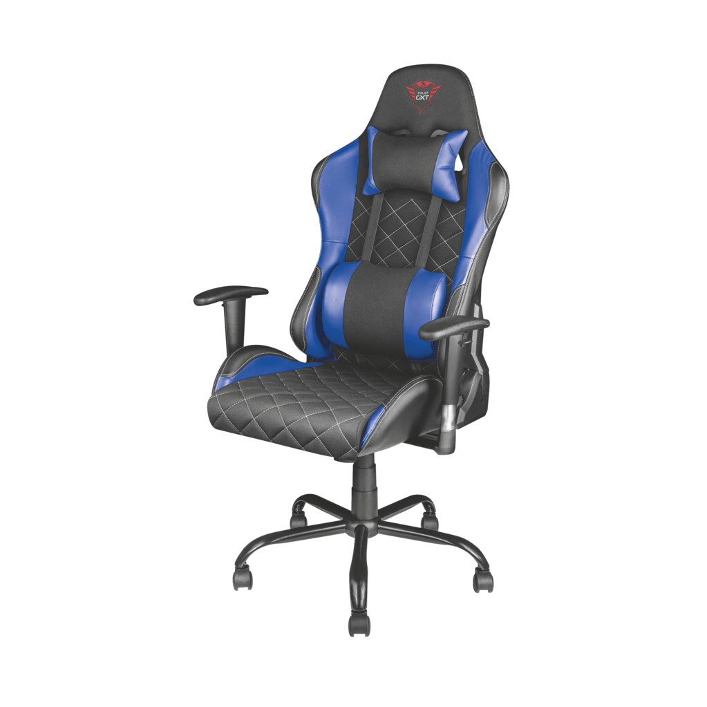 Trust GXT 707B RESTO Gaming Stoel Blauw in Nuis