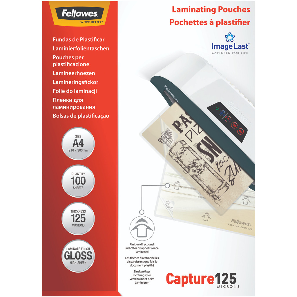 Fellowes Lamineerhoezen Capture 125 mic A4 (100 stuks) in Nederland
