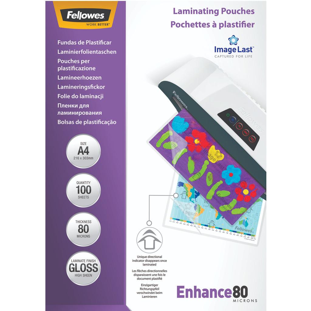 Fellowes Lamineerhoezen Enhance 80 mic A4 (100 stuks) in Hanendorp