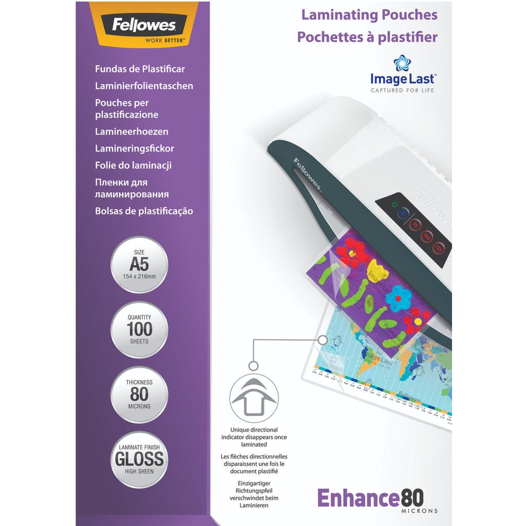 Fellowes Lamineerhoezen ImageLast 80 mic A5 (100 Stuks) in 't Vlot