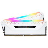 Corsair Vengeance RGB Pro 16GB DDR4 DIMM 3200 Mhz / 16 (2x8GB) White