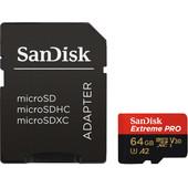 SanDisk MicroSDXC Extreme PRO 64GB 170MB/s + SD Adapter