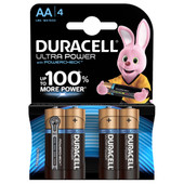 Duracell Ultra Power alkaline AA batteries 4 pieces