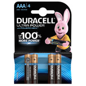 Duracell Ultra Power alkaline AAA batteries 4 pieces