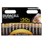 Duracell Plus Power alkaline AA batteries 12 pieces
