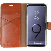 Valenta Booklet Premium Galaxy S9 Book Case Brown