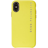 Decoded Leather Apple iPhone X / Xs Back Cover Yellow