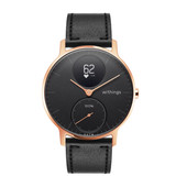 Withings Steel HR (36mm) Rose Gold Black Leather