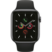 Apple Watch Series 5 44mm Space Gray Aluminium Zwarte Sportband