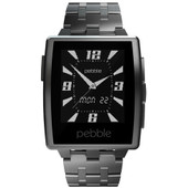 Pebble Steel Smartwatch Brushed Stainless