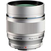 Olympus M.Zuiko Digital ED 75mm f/1.8 zilver