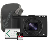 Sony CyberShot DSC-HX50V + Geheugen + Tas + Accu