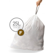 Simplehuman Waste Bag Code F Pocket Liners 25 Liter (60 pieces)
