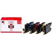 Huismerk Brother LC-1280XL 4-Kleuren Pack (Pixeljet - LC-1280XLVALBP)