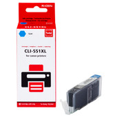 Huismerk Canon CLI-551XL Cartridge Cyaan (Pixeljet - 6444B001)